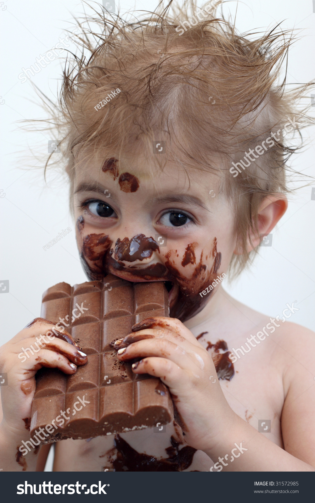 Baby Face Covered Chocolate Stock Photo 31572985