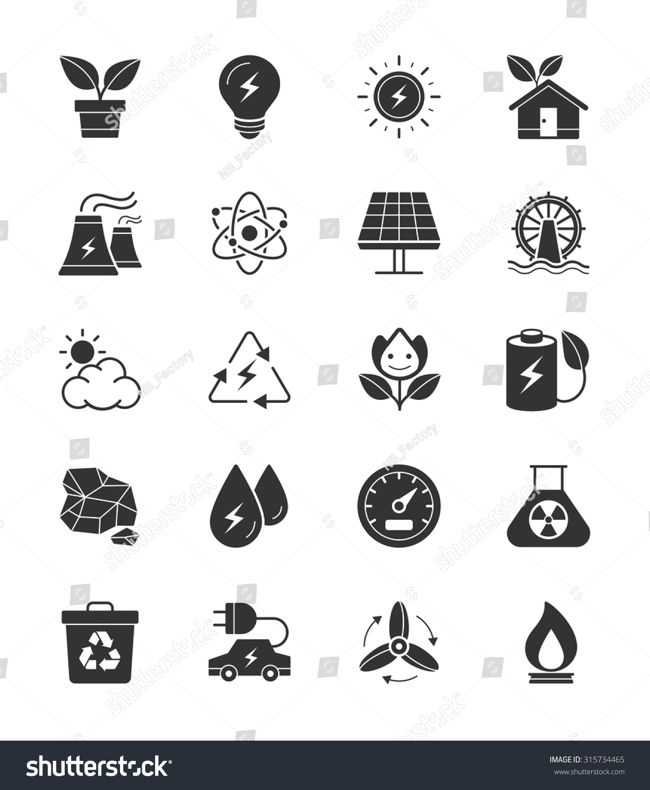 Eco energy power icons on white stock vector 315734465 shutterstock eco energy and power icons on white background vector illustration biocorpaavc Gallery