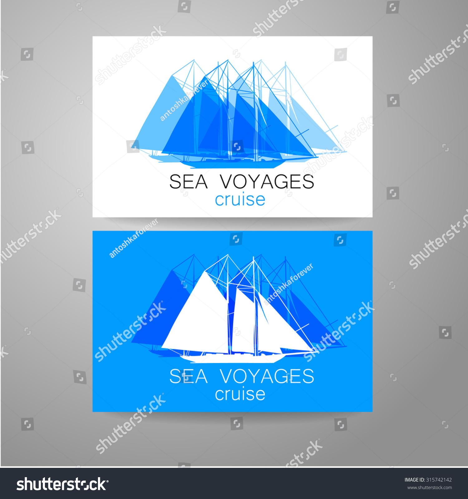 Sea Cruise Logo Design Presentation Corporate Stock Vector ... for Corporate Logo Design Examples  131fsj