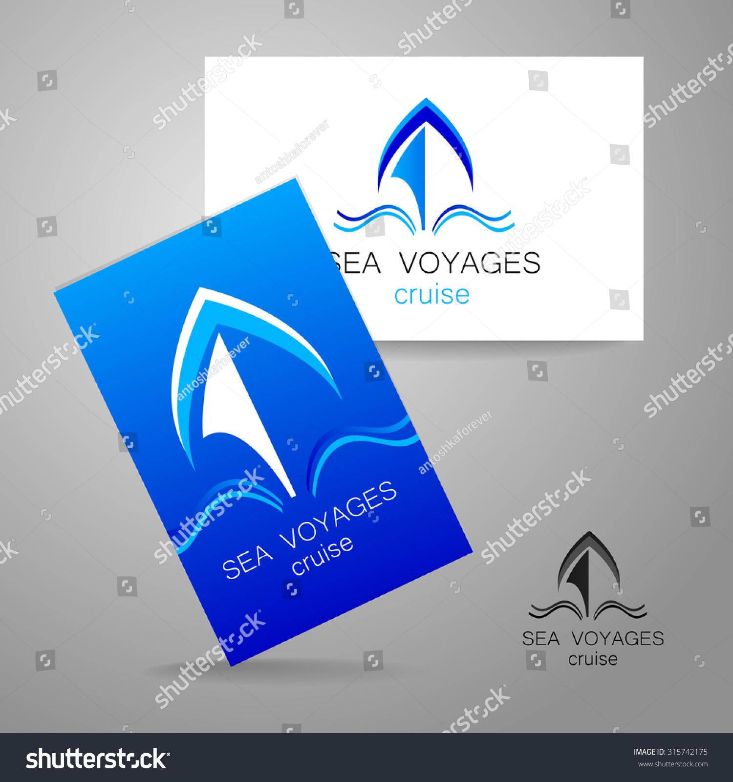 Sea Cruise Logo Design Presentation Corporate Stock Vector ... for Corporate Logo Design Examples  10lpwja