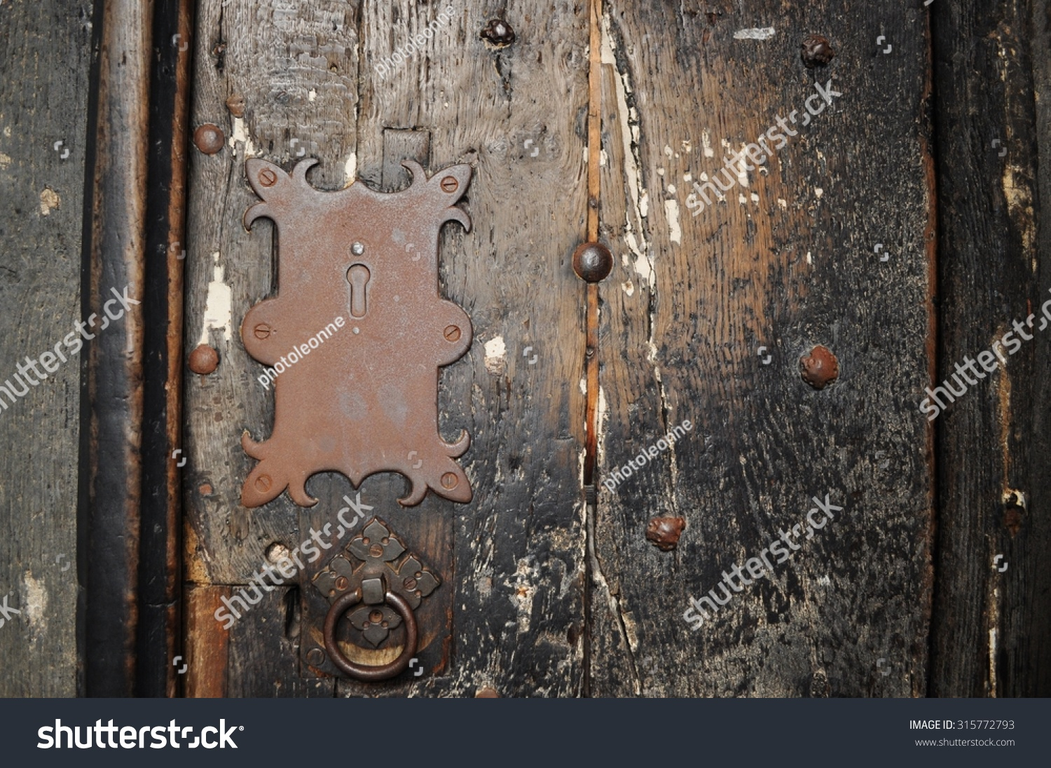 old spooky door gothic entrance Chester cathedral & Old Spooky Door Gothic Entrance Chester Stock Photo 315772793 ... pezcame.com