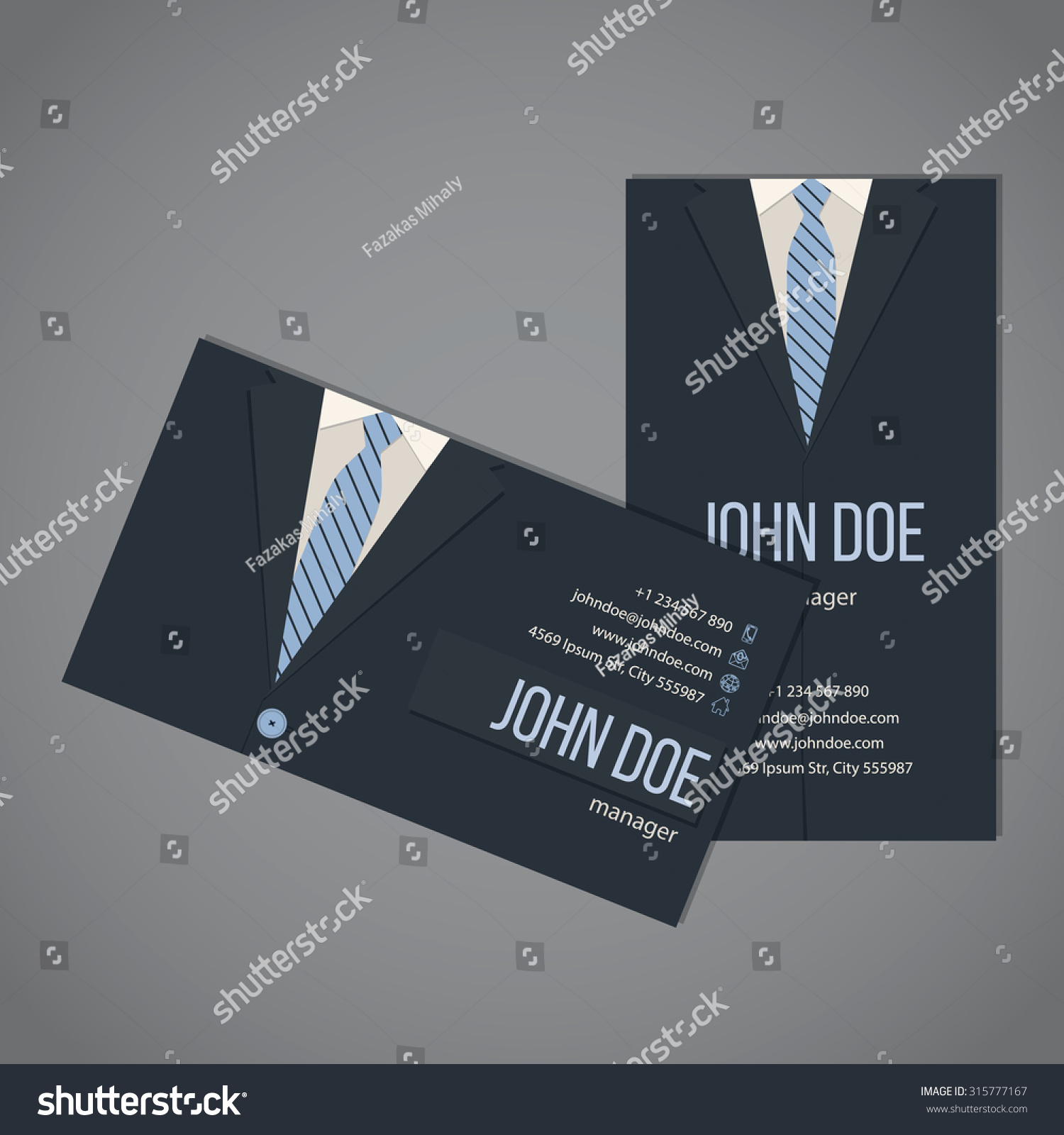 Business suit business card template design stock vector 315777167 business suit business card template design in dark and light blue color magicingreecefo Images
