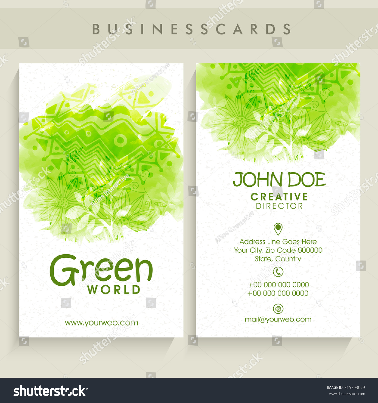 Creative Vertical Business Card Visiting Card Stock Vector ...
