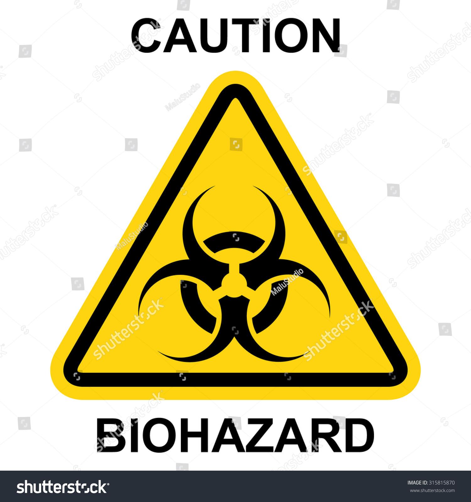 Biohazard Symbol Sign Of Biological Threat Alert Vector