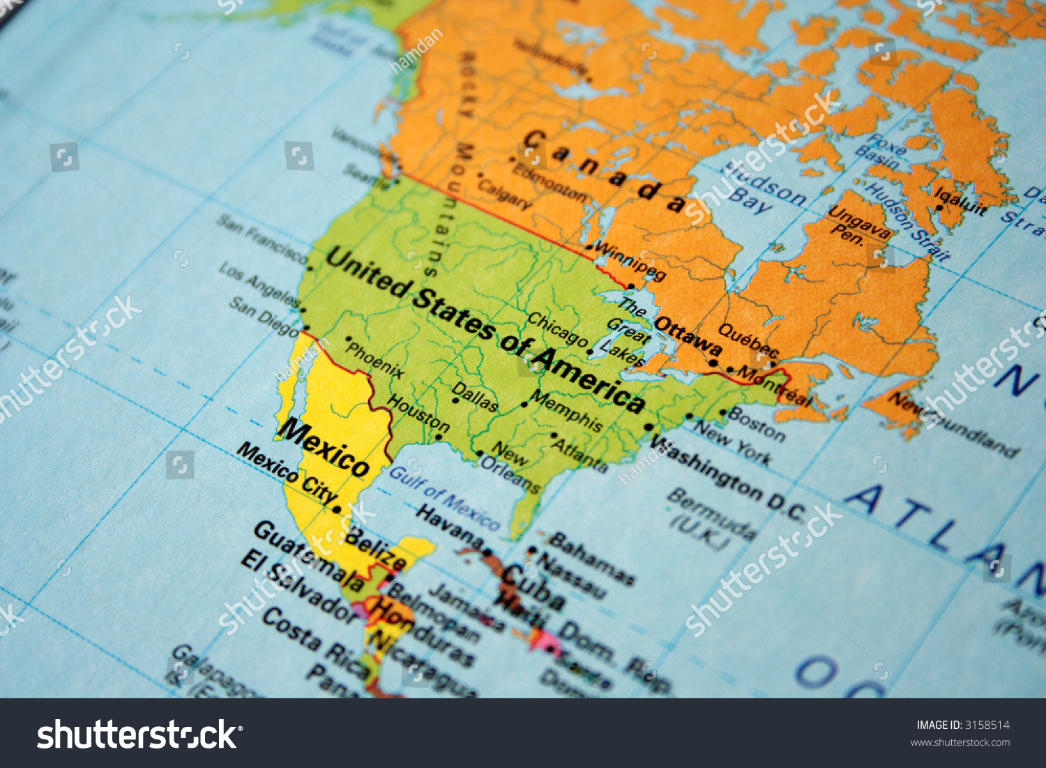 Map Usa Canada Stock Photo  Shutterstock - Map of boston in usa