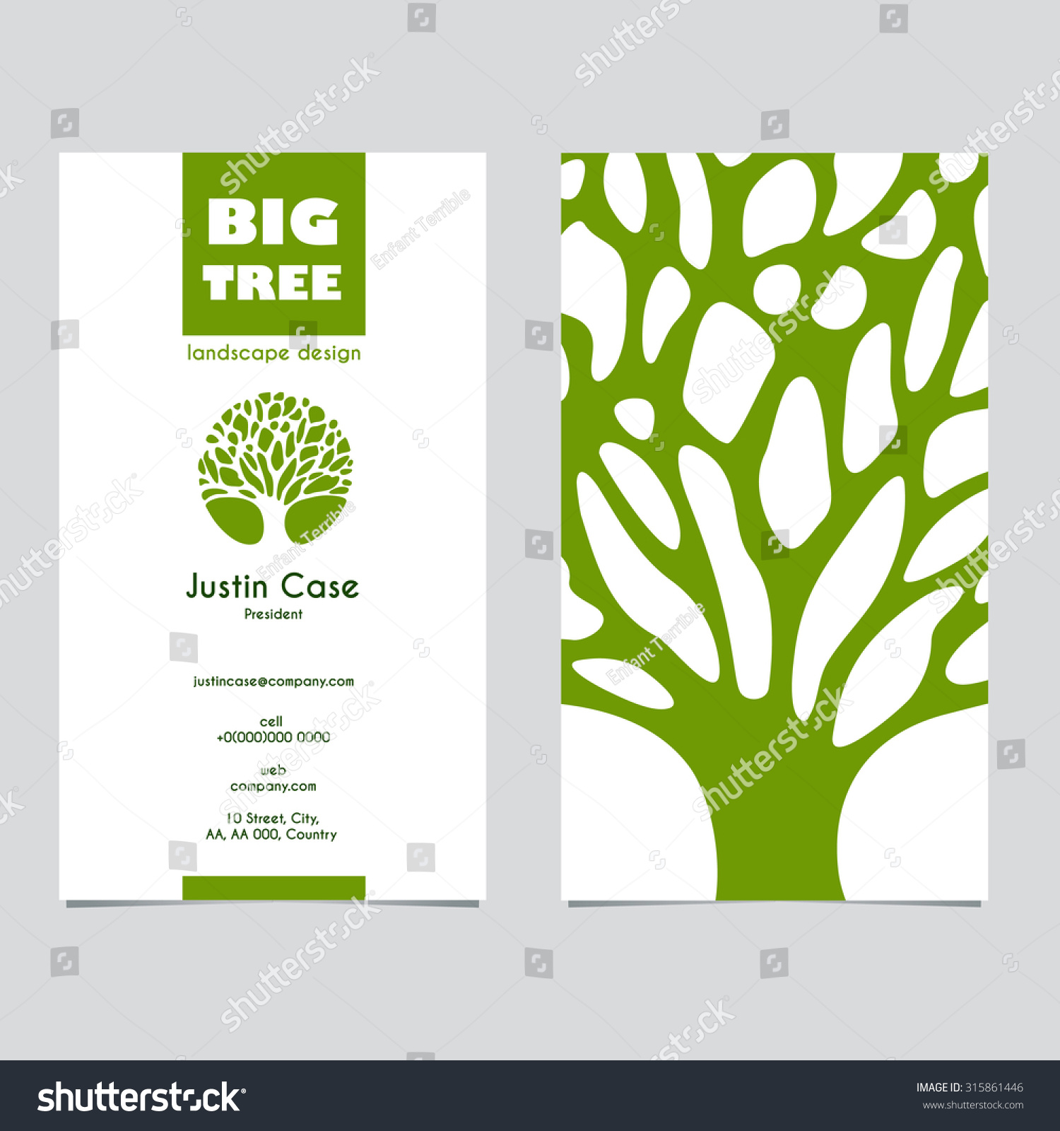 Abstract tree sign business card vector stock vector 315861446 abstract tree sign business card vector template vector icon corporate identity template for magicingreecefo Images