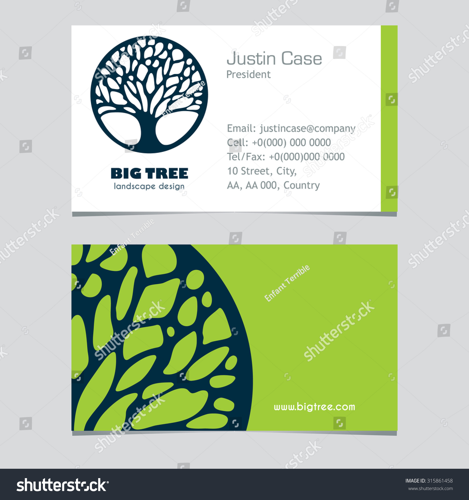 Abstract tree sign business card vector stock vector 315861458 abstract tree sign business card vector template vector icon corporate identity template for magicingreecefo Images