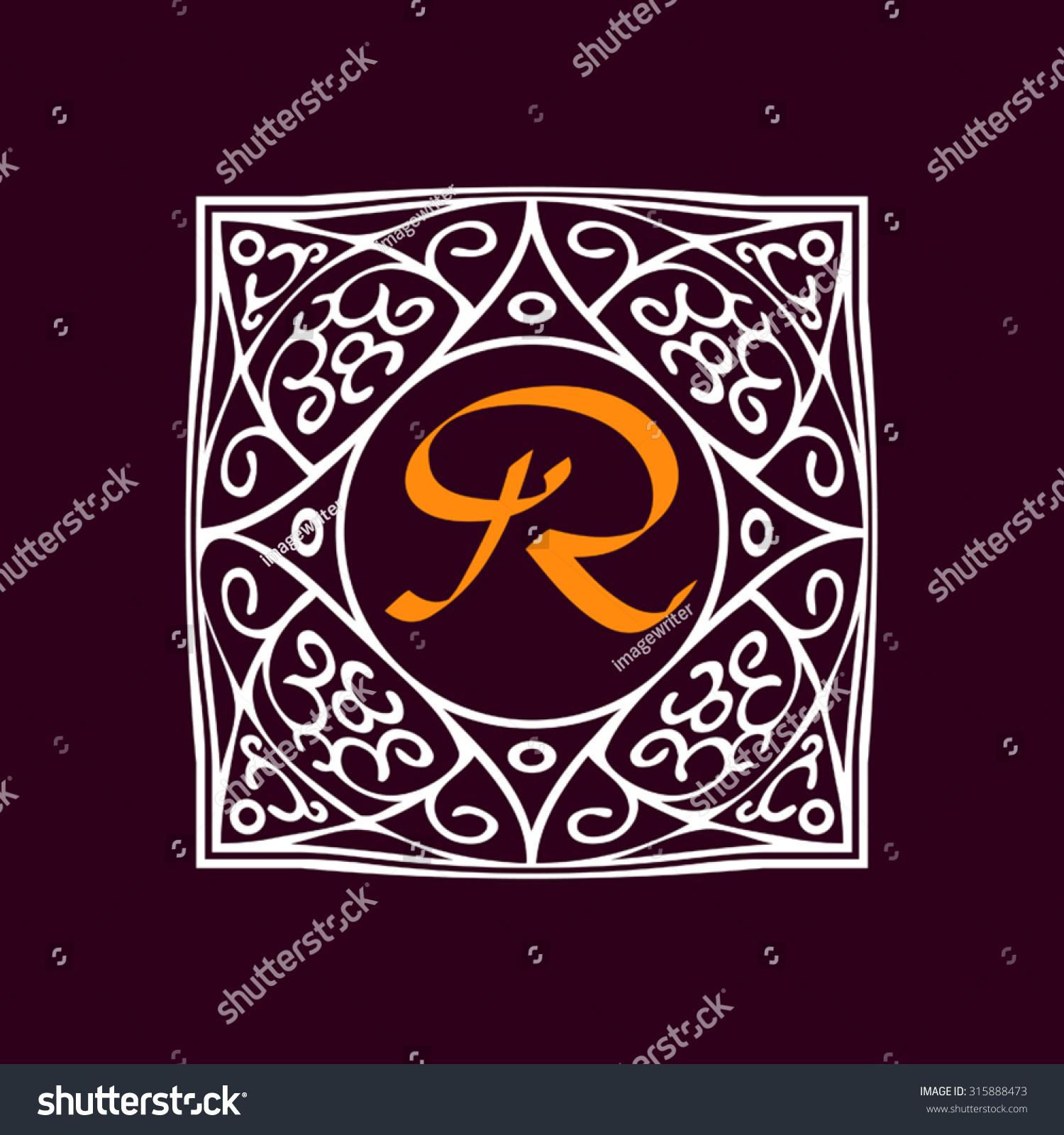 Ornate frame monogram logo other symbol stock vector 315888473 ornate frame for monogram logo or other symbol in arabesque style the r buycottarizona