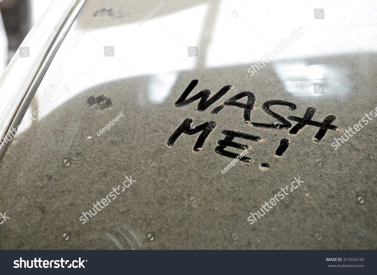 Car Dust Inscription Wash Me Word Stock Photo 315924143 Shutterstock