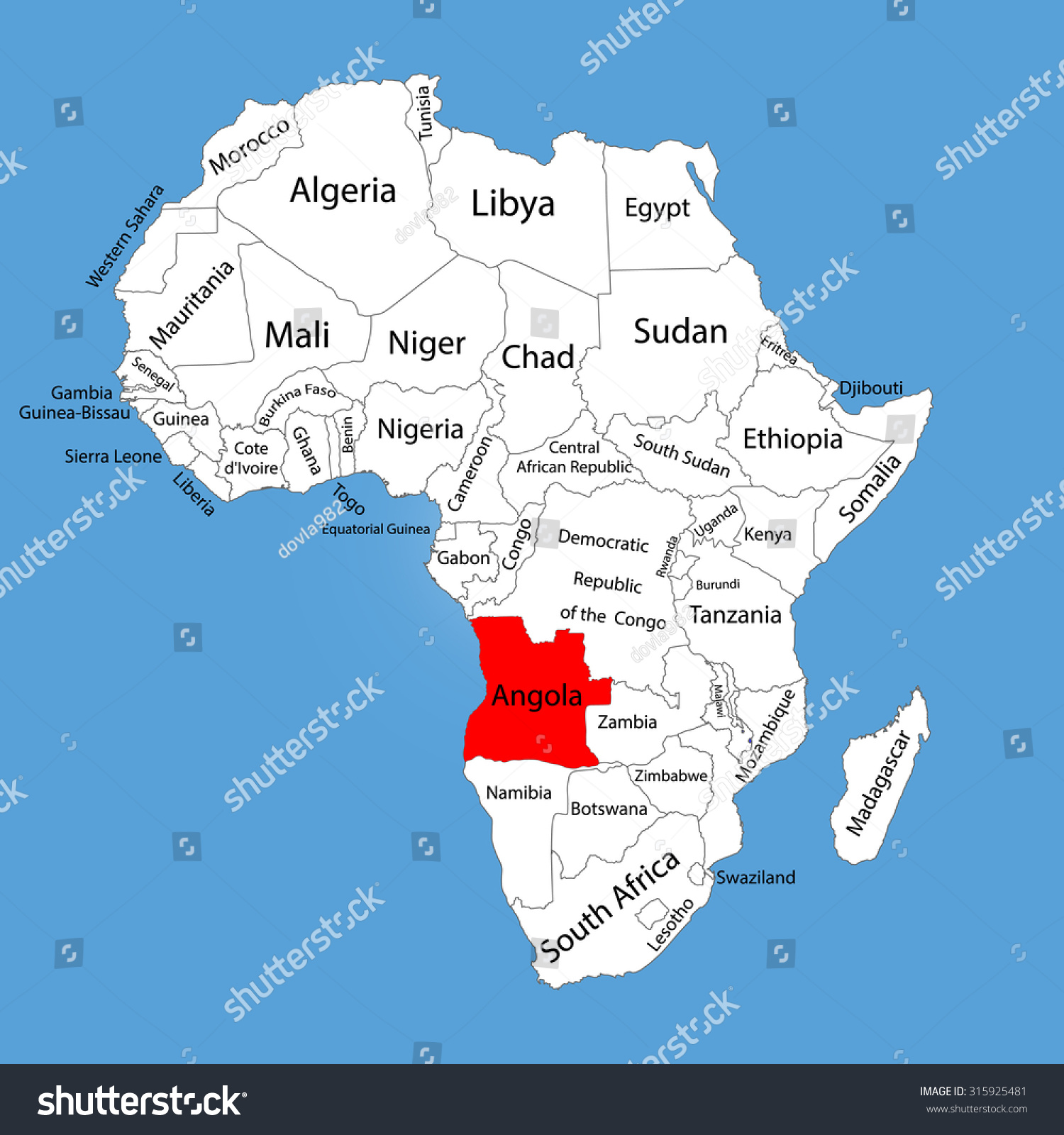 Map Ofafrica Nouakchott Pinned On A Map Of Africa Stock Photo - Burundi clickable map