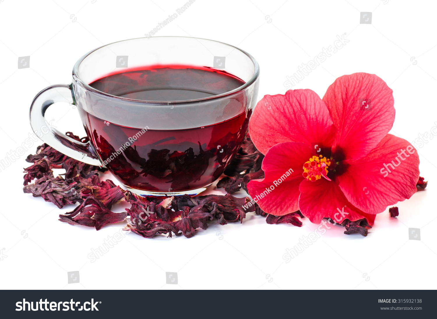 Hibiscus tea flower dry blossom isolated stock photo royalty free hibiscus tea flower and dry blossom isolated on white background izmirmasajfo Images