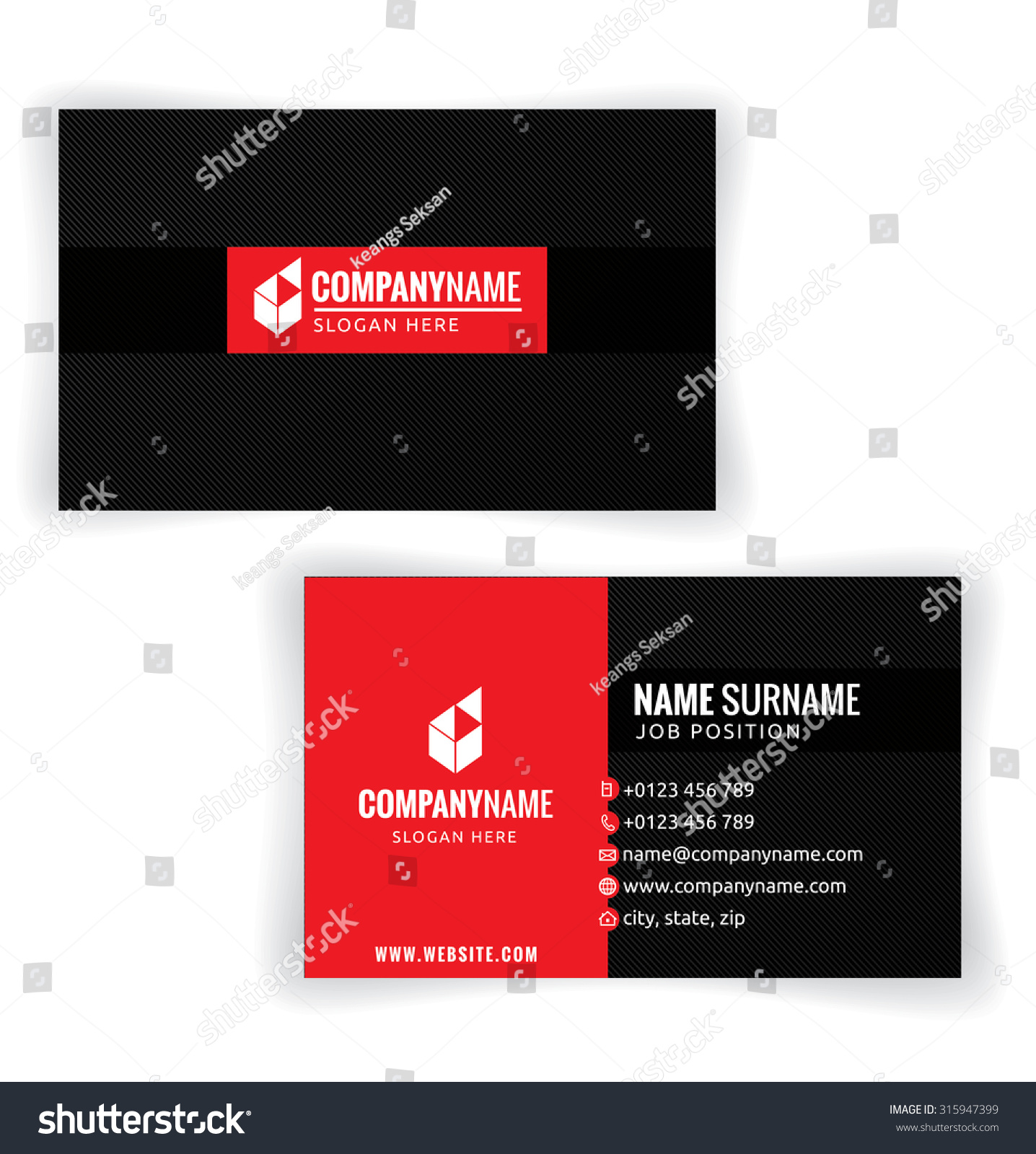 Red black business card template white stock photo photo vector red and black business card template white background illustration vector10 reheart Gallery