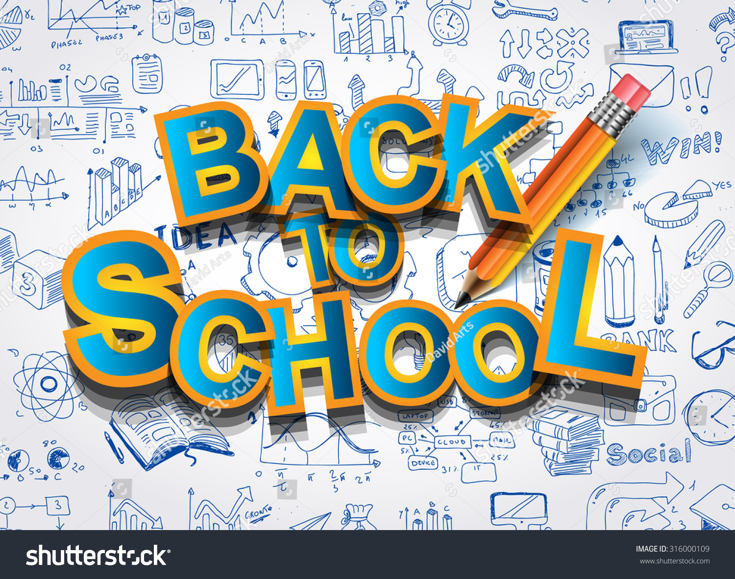 School Book Cover Vector : Back school background advertisements book cover stock