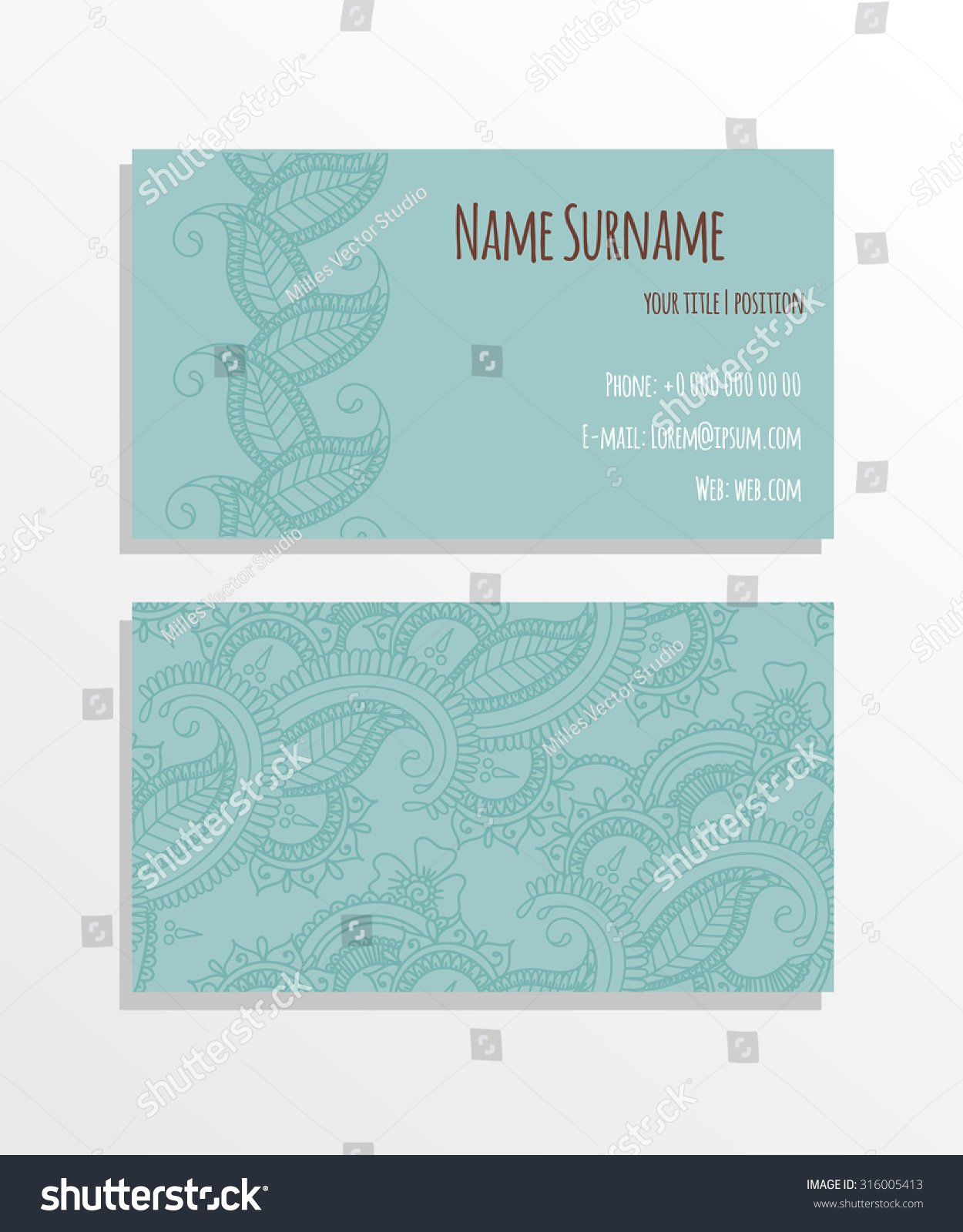 Paisley business card design vector illustration stock vector paisley business card design vector illustration magicingreecefo Images