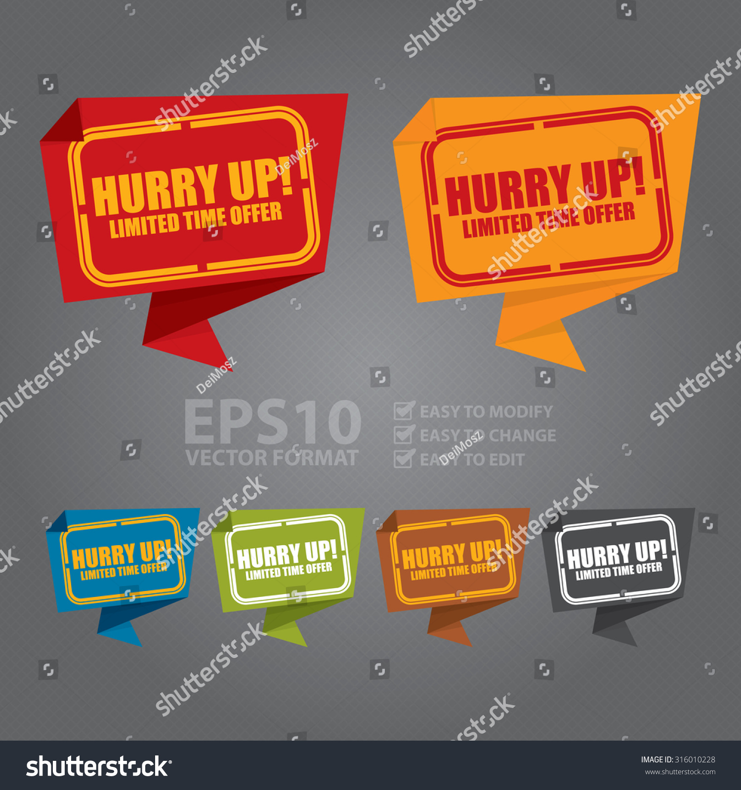 Price cut limited time offer shop now for the best selection hurry - Vector Hurry Up Limited Time Offer Paper Origami Speech Bubble Or Speech Balloon Infographics