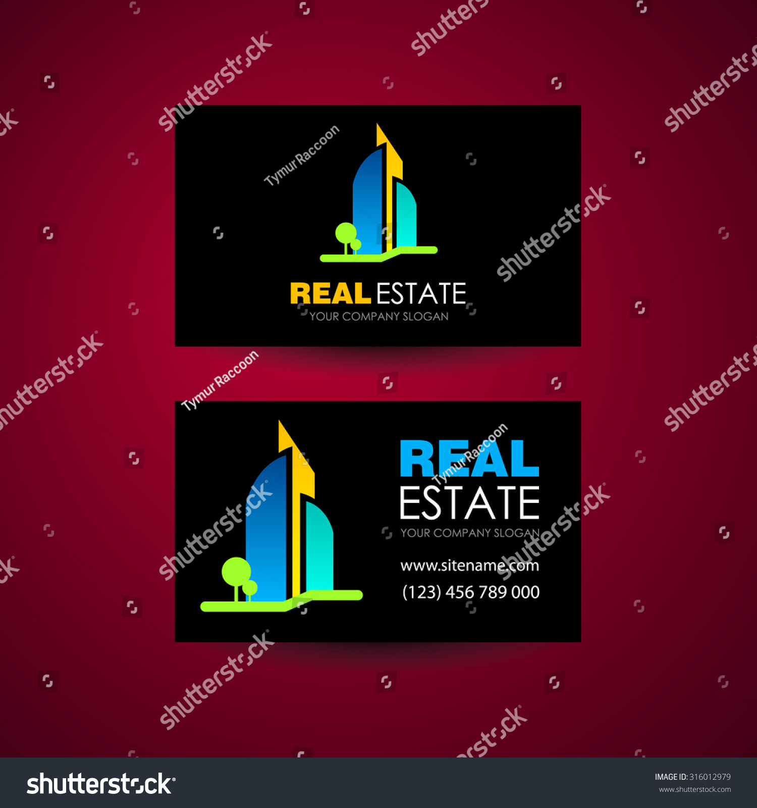 Eco Home Real Estate Logo Template Stock Vector HD (Royalty Free ...