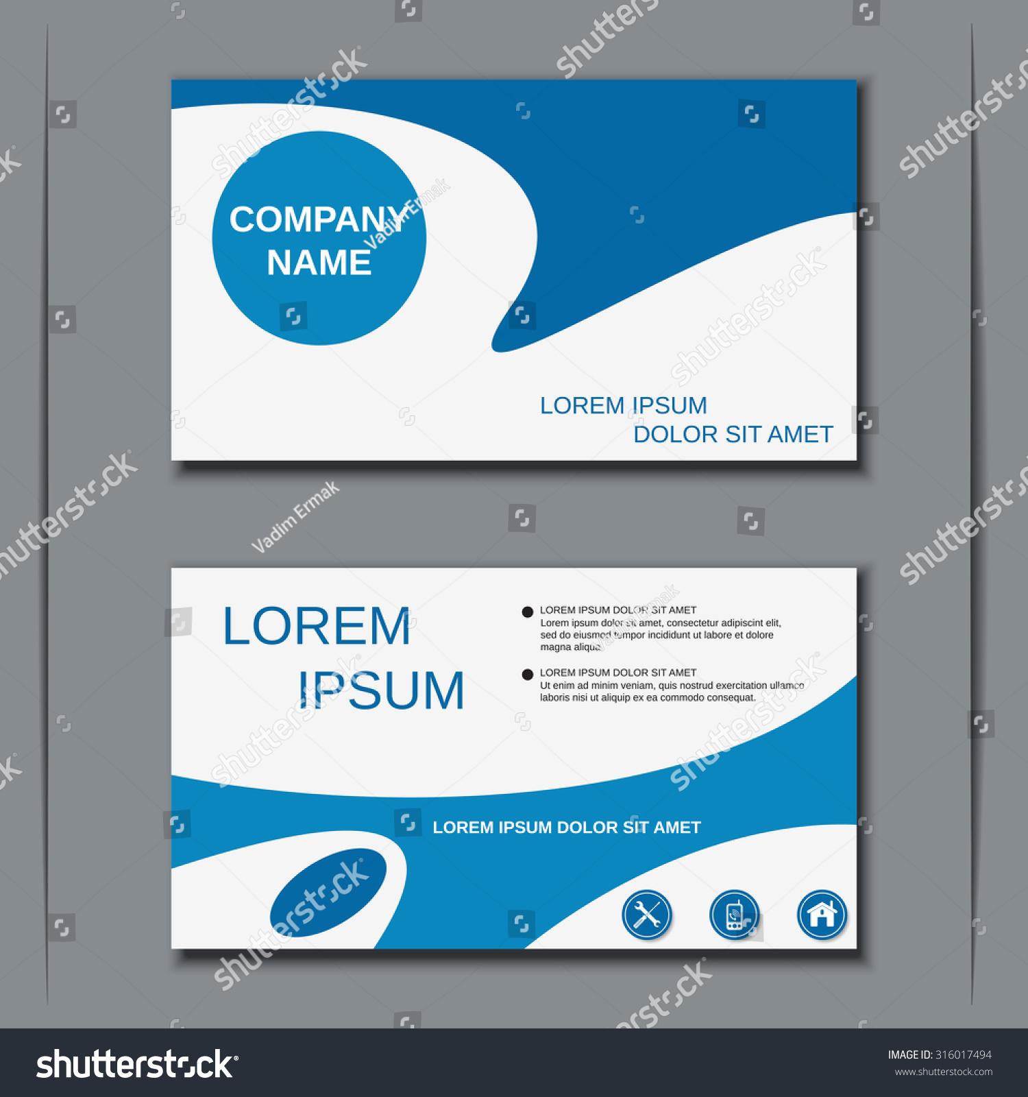 Modern Business Visiting Card Banner Sticker Stock Vector ...
