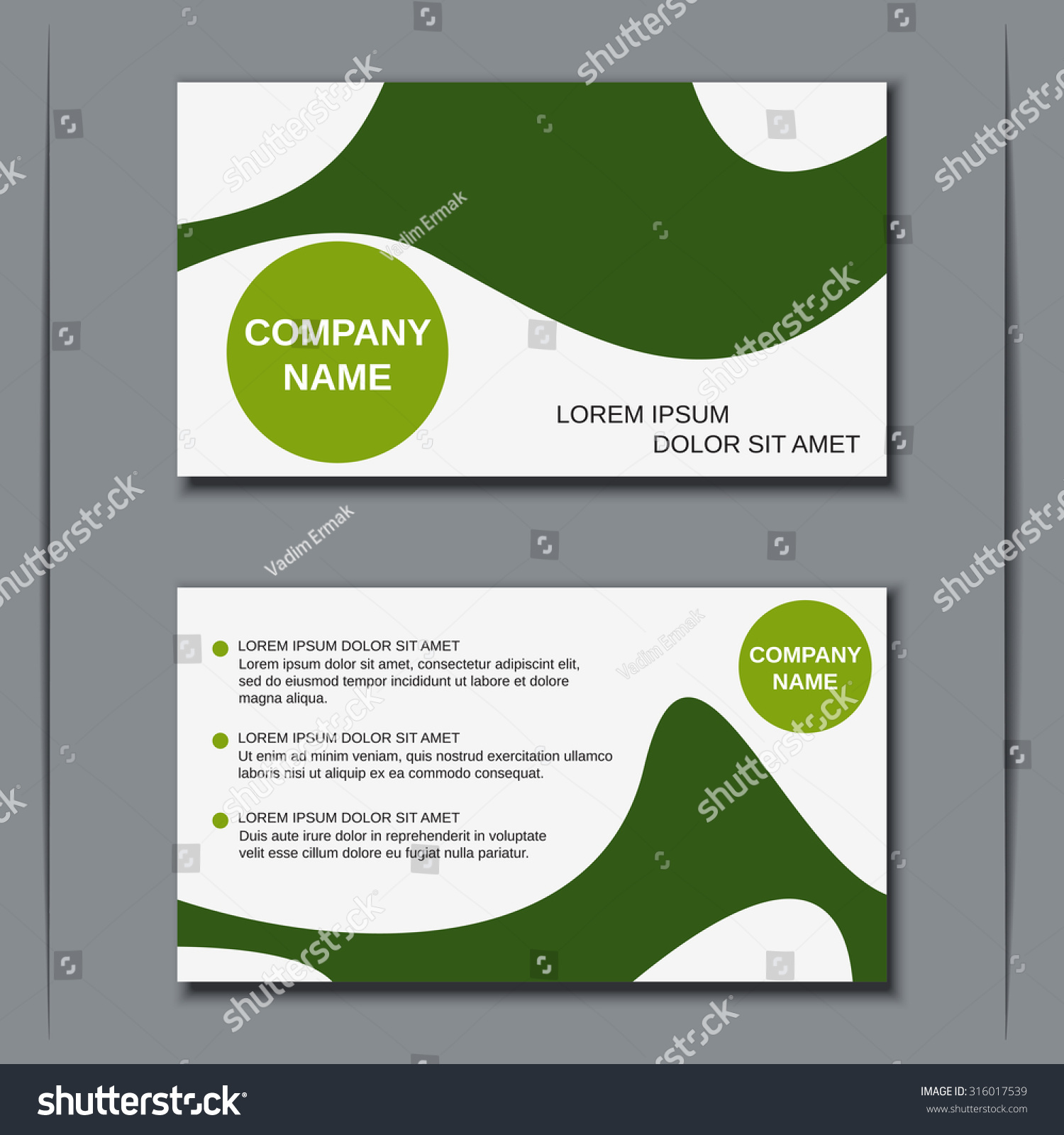 Pretty Forever Living Business Cards Contemporary - Business Card ...