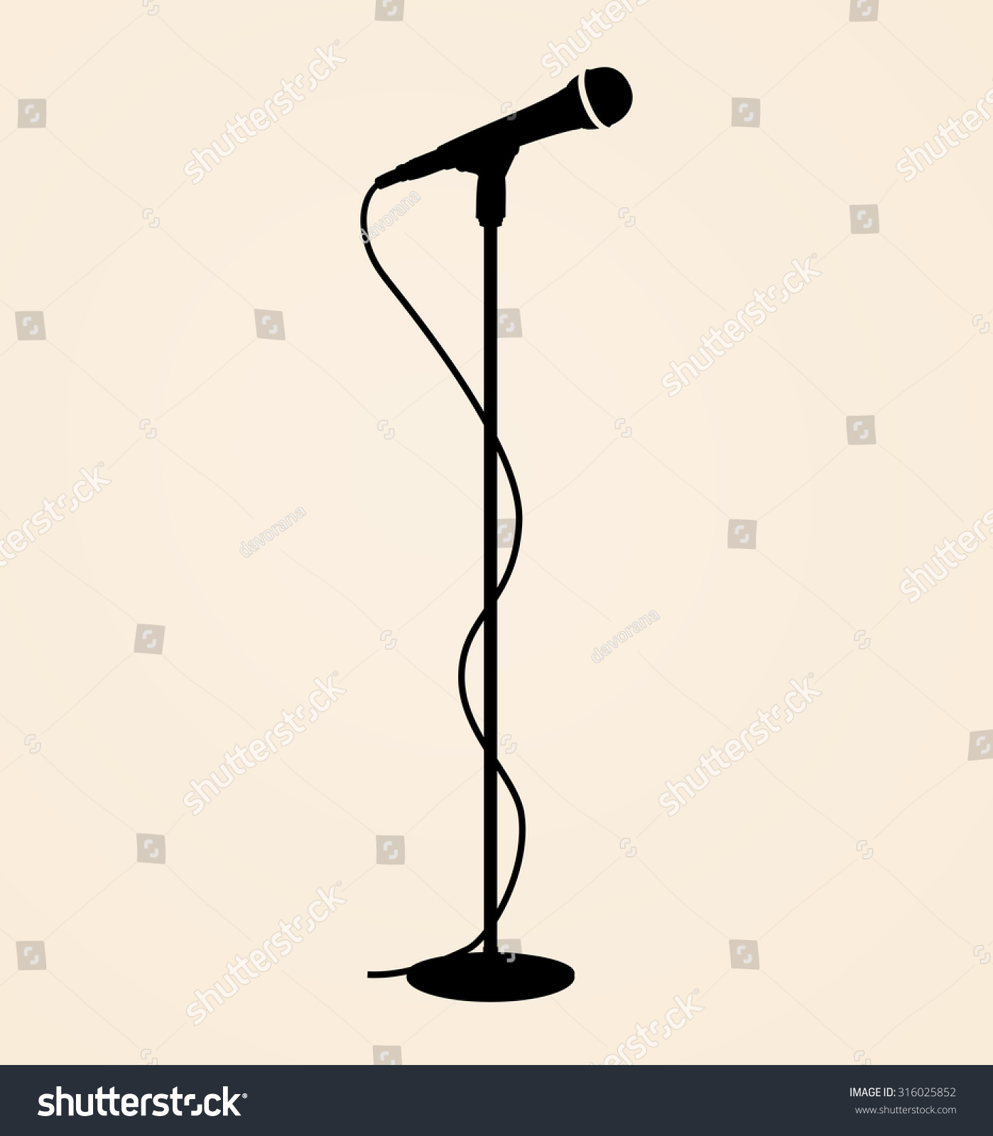 Sound Recording Equipment - Black Silhouette Stage ...