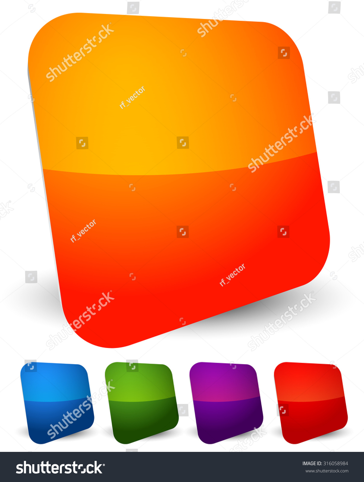 Empty square icons symbol backgrounds colorful stock vector empty square icons symbol backgrounds colorful squares glossy shiny buttons with blank buycottarizona Gallery
