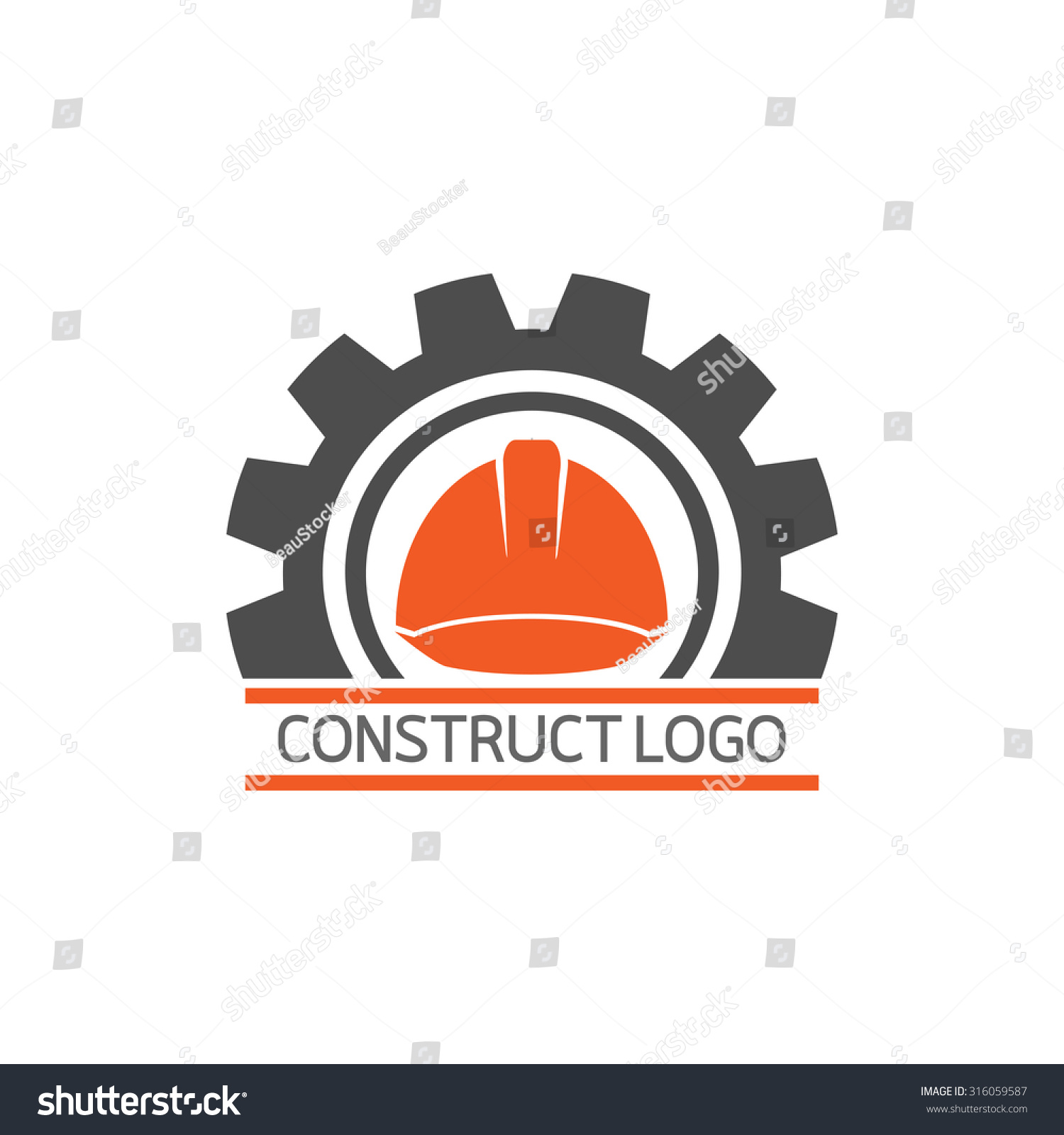 Construct Building Logo On White Background Stock Vector ...