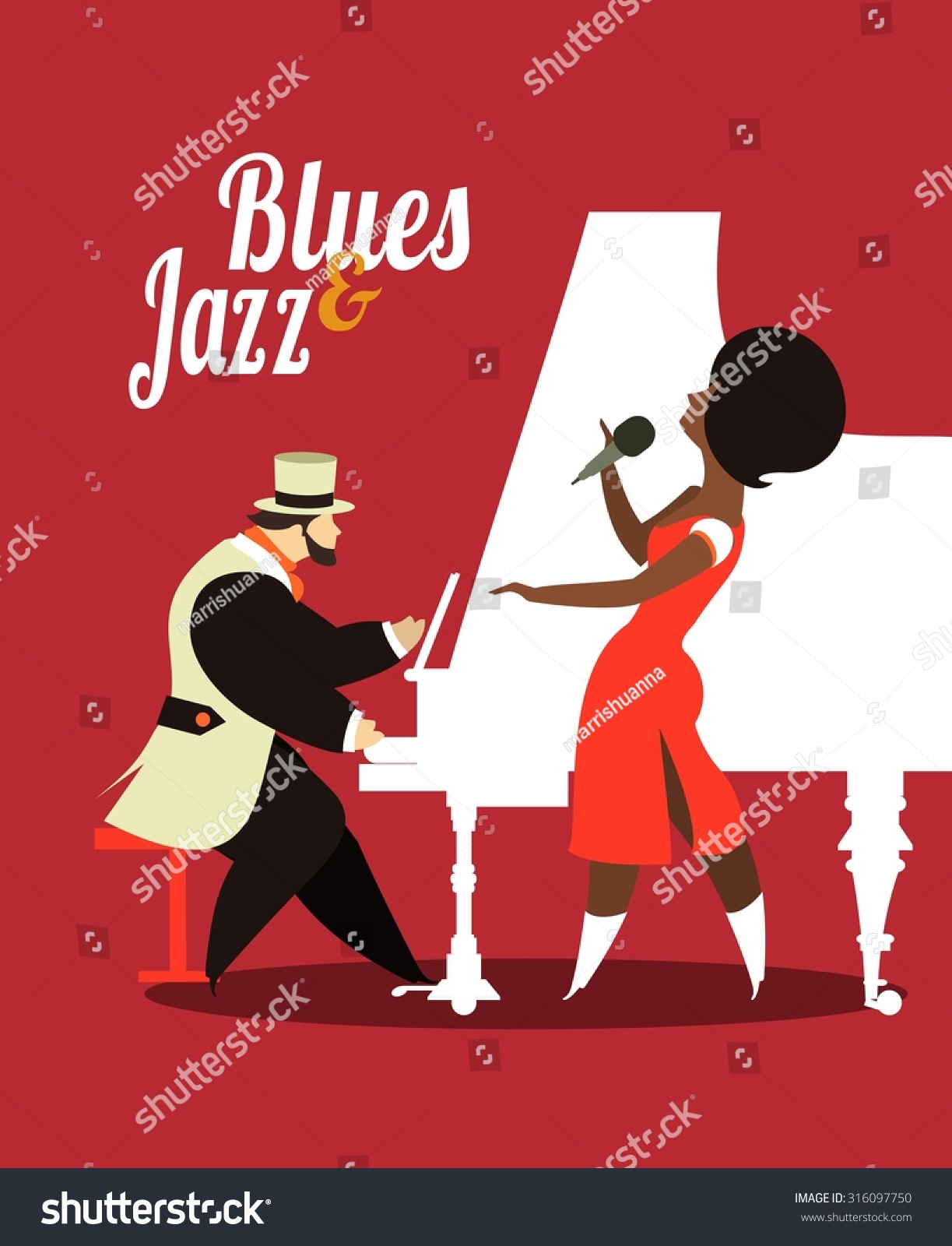 abstract jazz band jazz music party stock vector 316097750