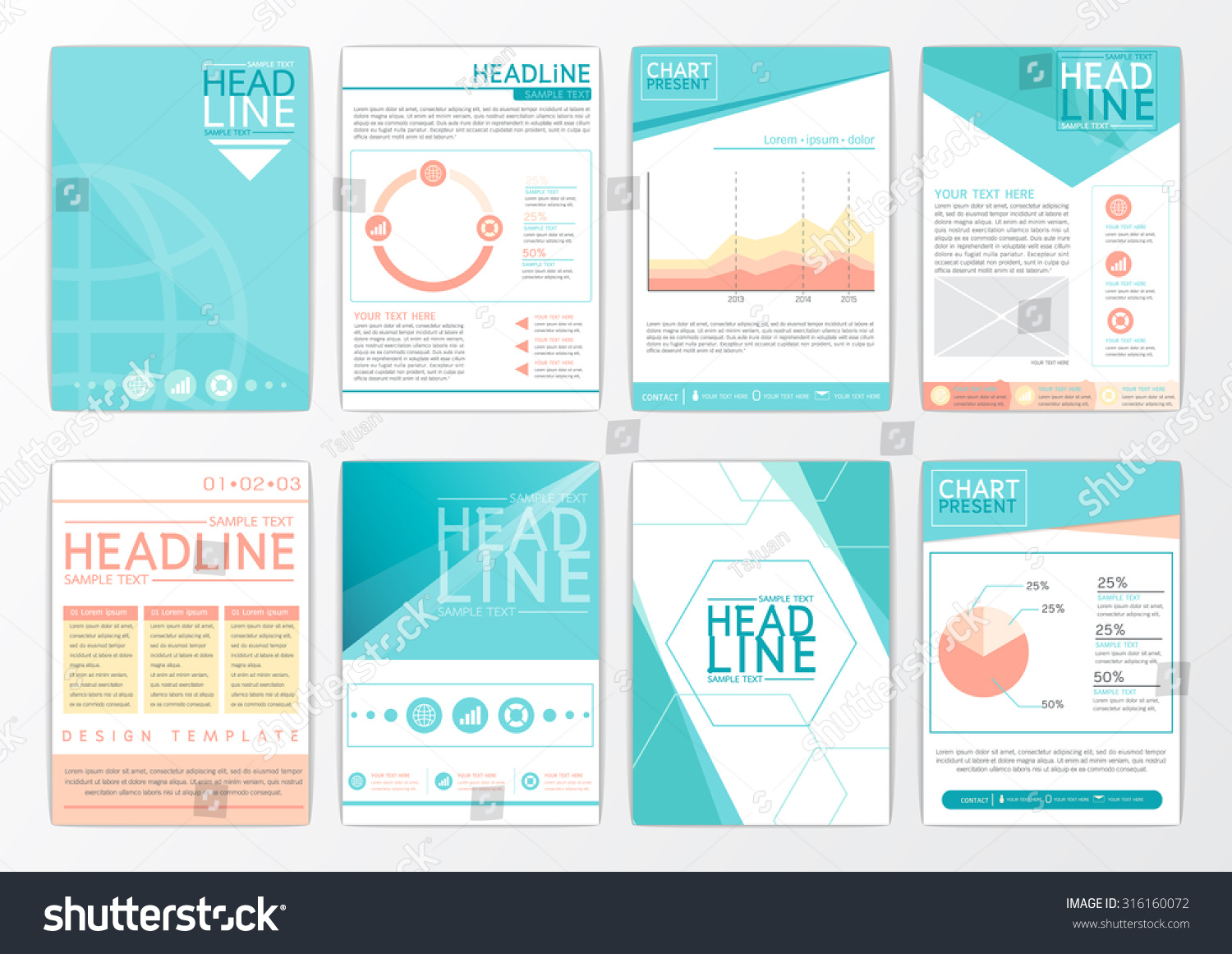abstract background design business brochure big stock vector abstract background design business brochure big set flyer layout presentation advertising