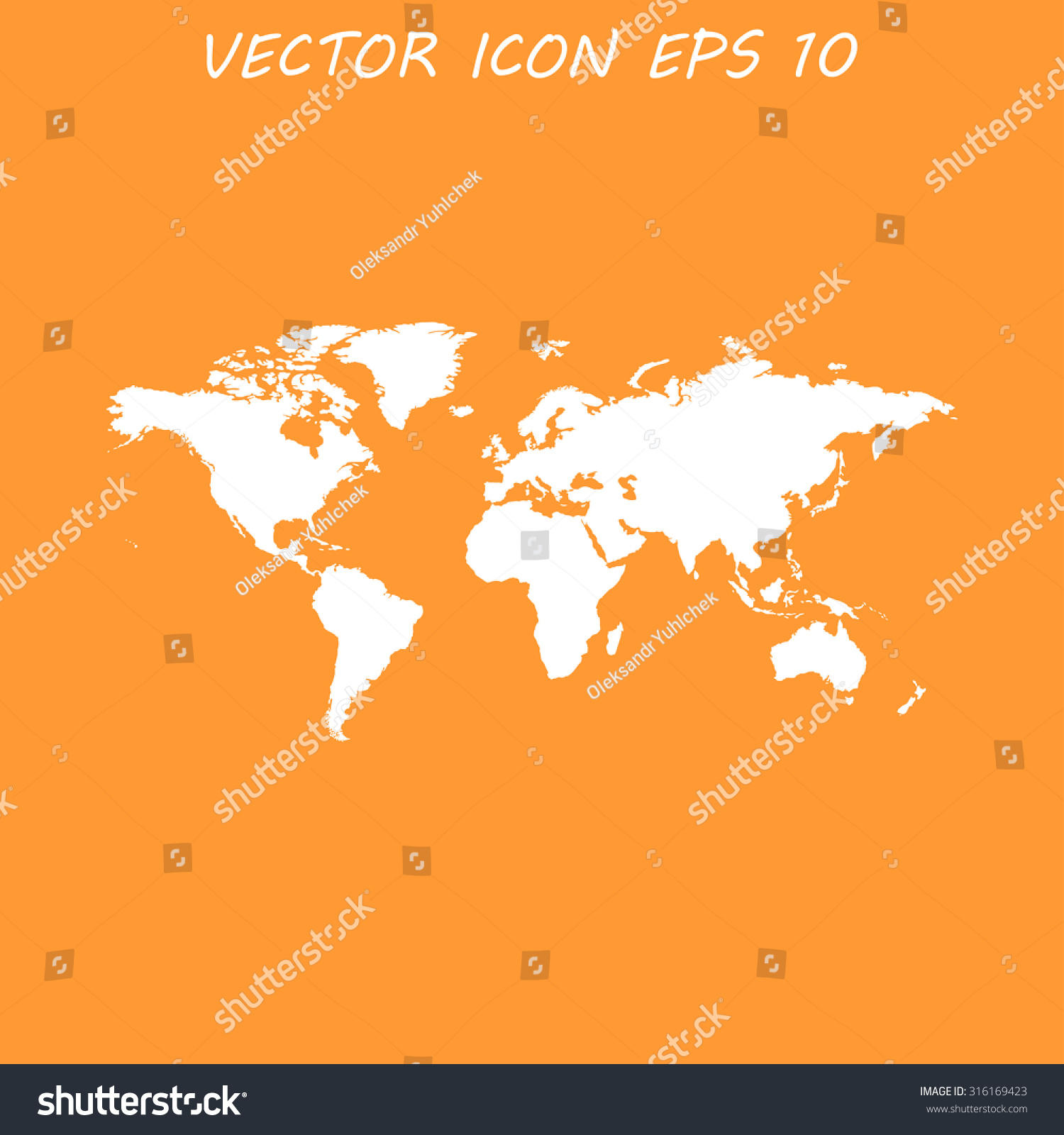 World map illustration flat design style stock vector 316169423 world map illustration flat design style eps 10 gumiabroncs Images