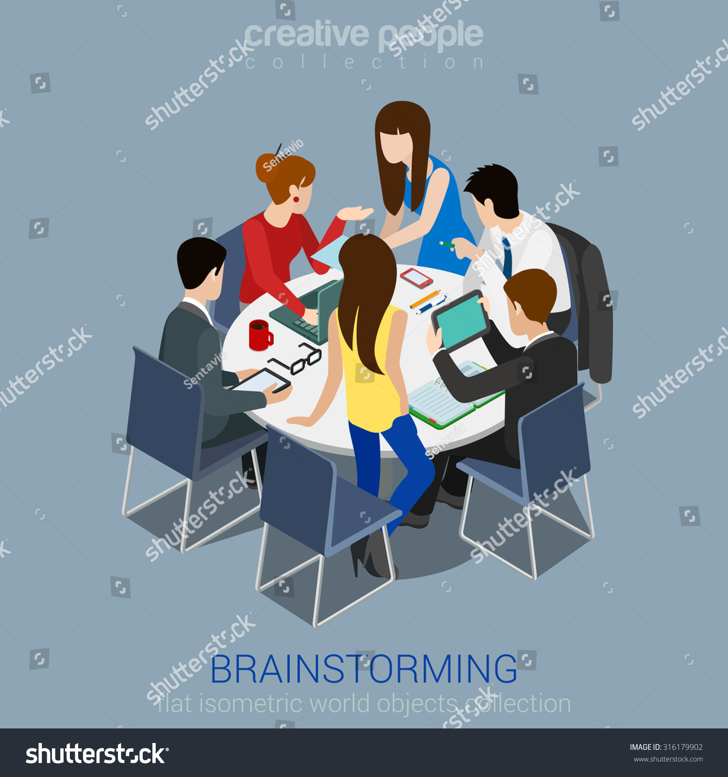 Brainstorming Creative Team Idea Discussion People Stock ...