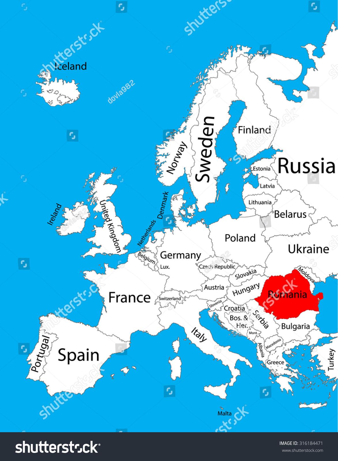 Image of: Romania Map Europe Googlesamp