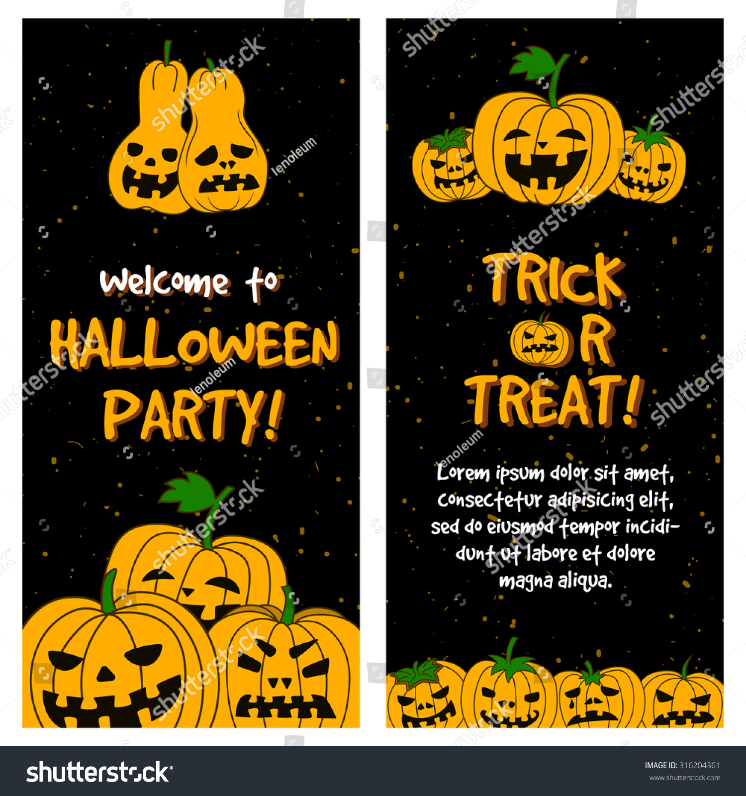 Halloween Party Vertical Template Banner Poster Stock Vector ...