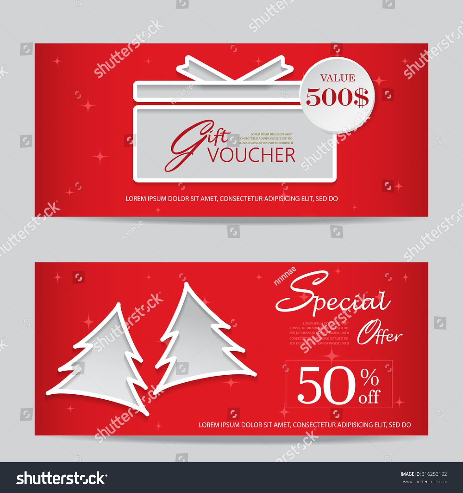 user interface gift voucher