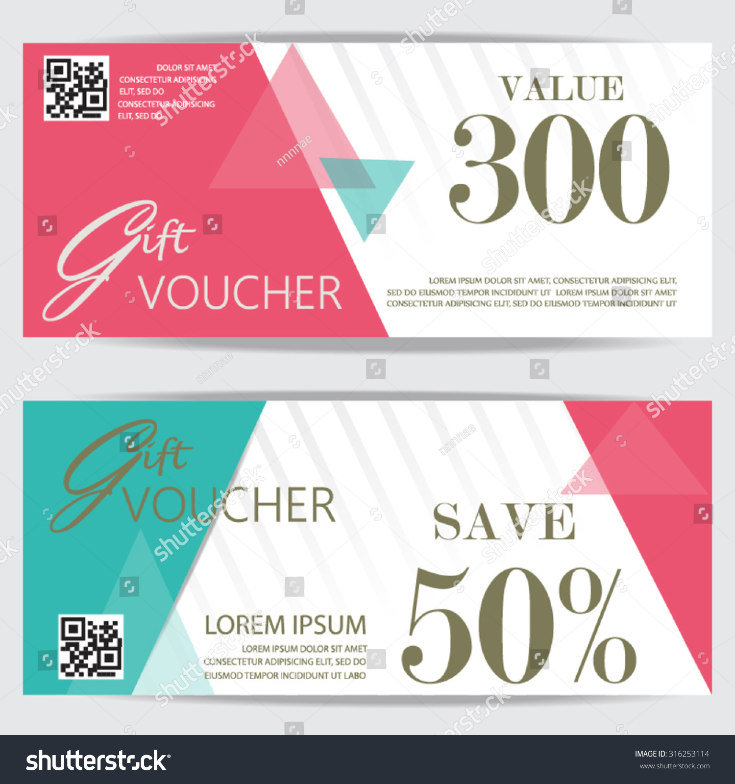 gift voucher certificate coupon template cute stock vector gift voucher certificate coupon template cute and modern style design for girl and w
