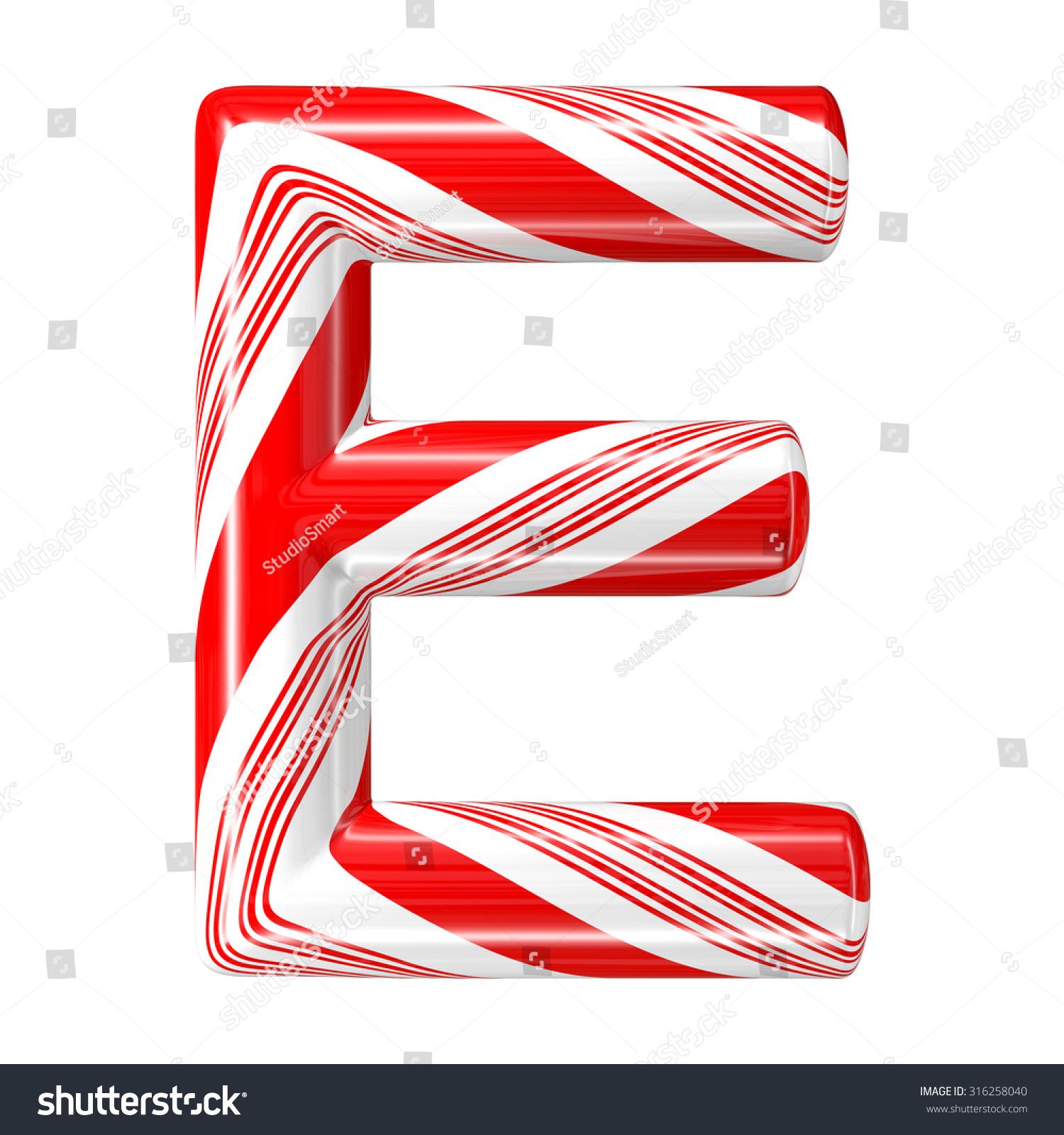 Mint Hard Candy Cane 3d Alphabet Stock Illustration 316258040 ...