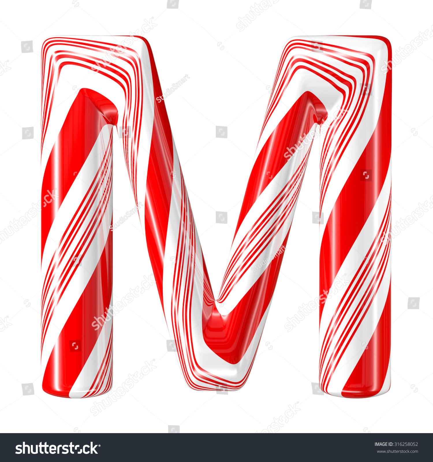 Mint Hard Candy Cane 3d Alphabet Stock Illustration 316258052 ...
