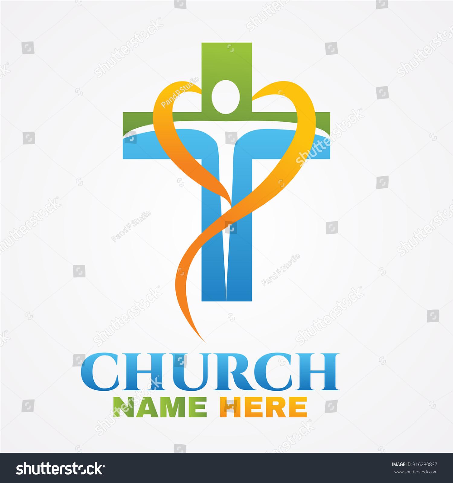 Abstract Christian Cross Logo Design Vector Stock Vector 316280837 ...