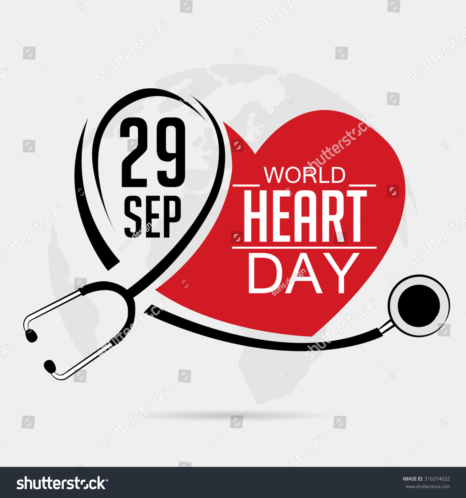 Stock illustration 3d red text quot yes quot stock illustration royalty - Similar Images To Vector Illustration World Heart Day Background Stock