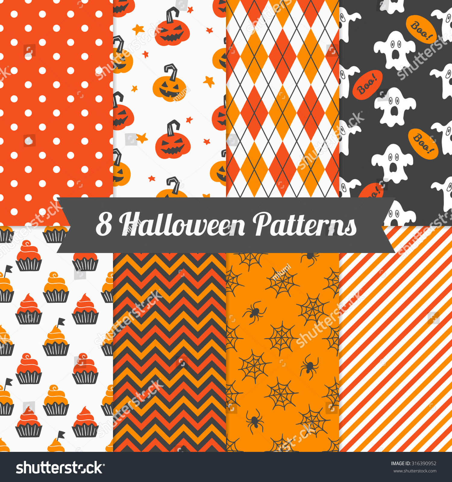 Wonderful Wallpaper Halloween Polka Dot - stock-vector-set-of-halloween-patterns-with-cupcakes-pumpkins-spiders-ghosts-polka-dot-chevron-argyle-and-316390952  HD_2110078.jpg