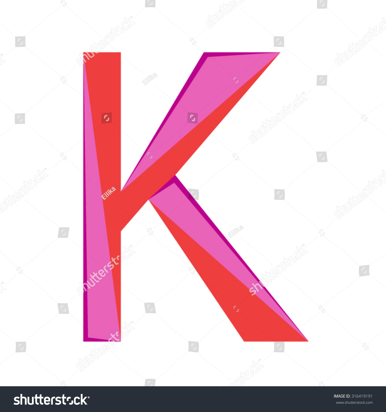 Abstract letter k logo design template stock vector 316419191 abstract letter k logo design template colorful creative sign vector icon spiritdancerdesigns Images