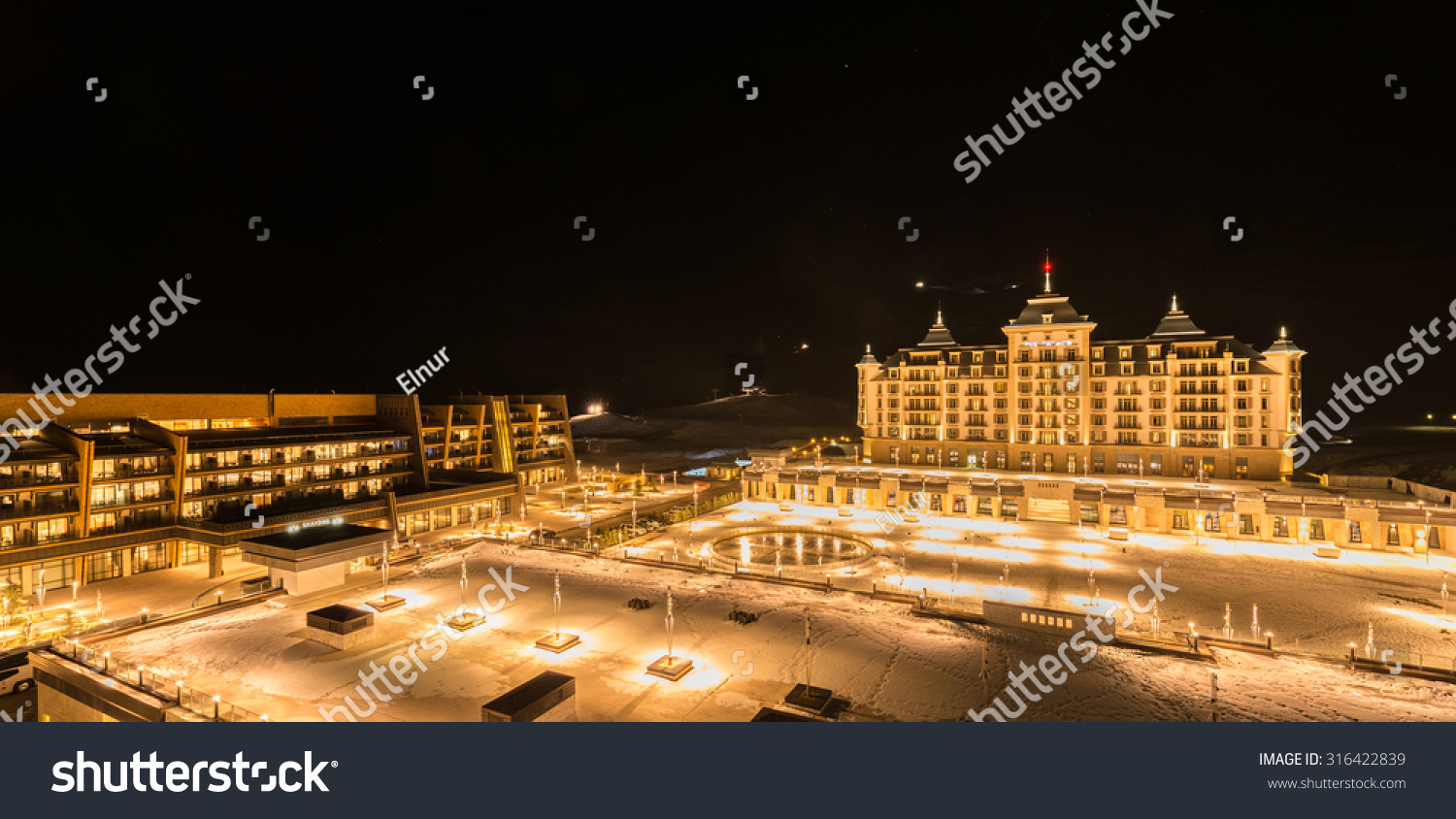 Shahdag Azerbaijan  City new picture : , 2015: Tourist Hotels on February 27 in Azerbaijan, Shahdag. Shahdag ...