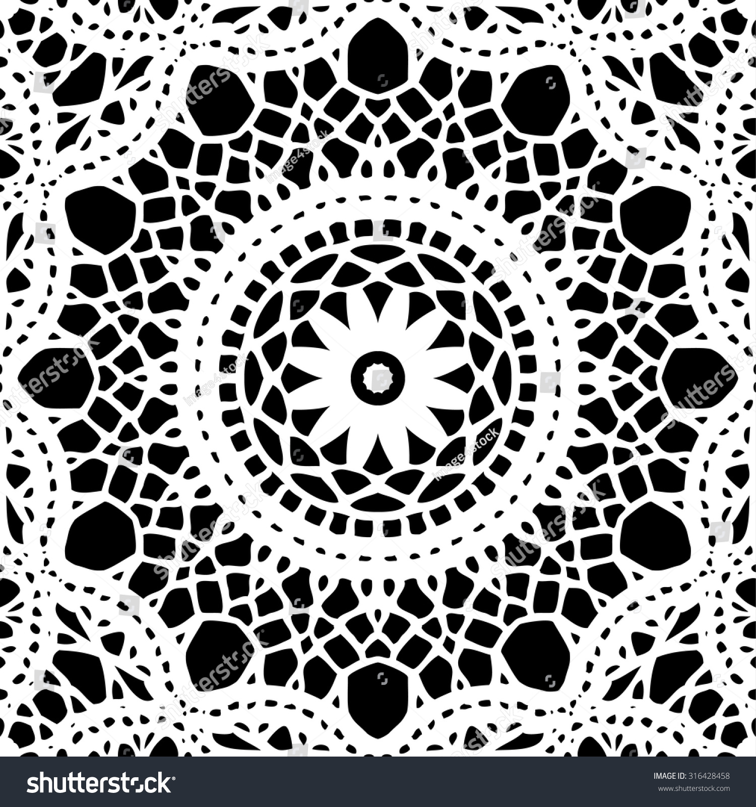 Lace Doily Seamless Pattern Hand Made Stock Vector 316428458