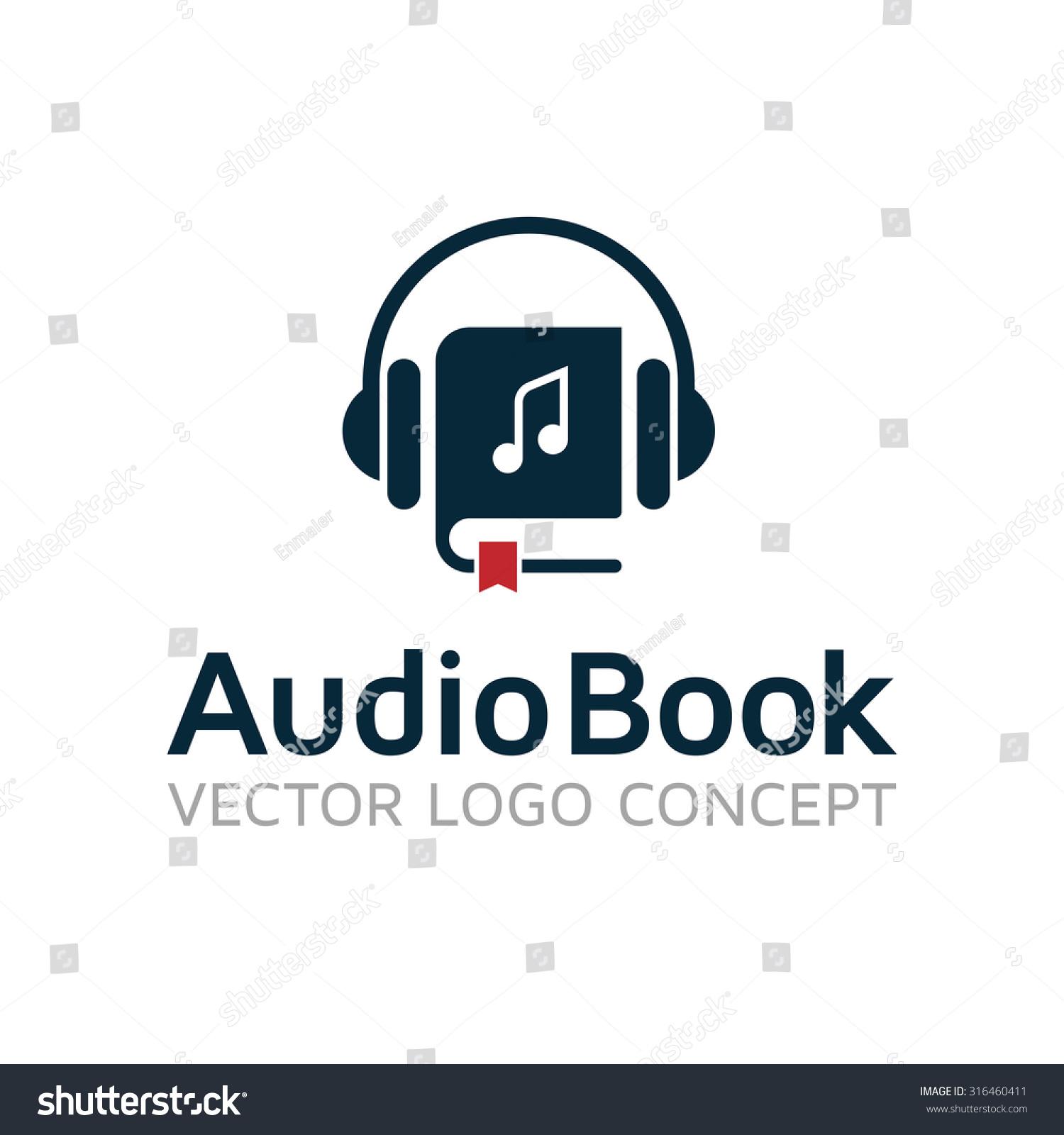 audiobook vector logo template stock vector royalty free 316460411