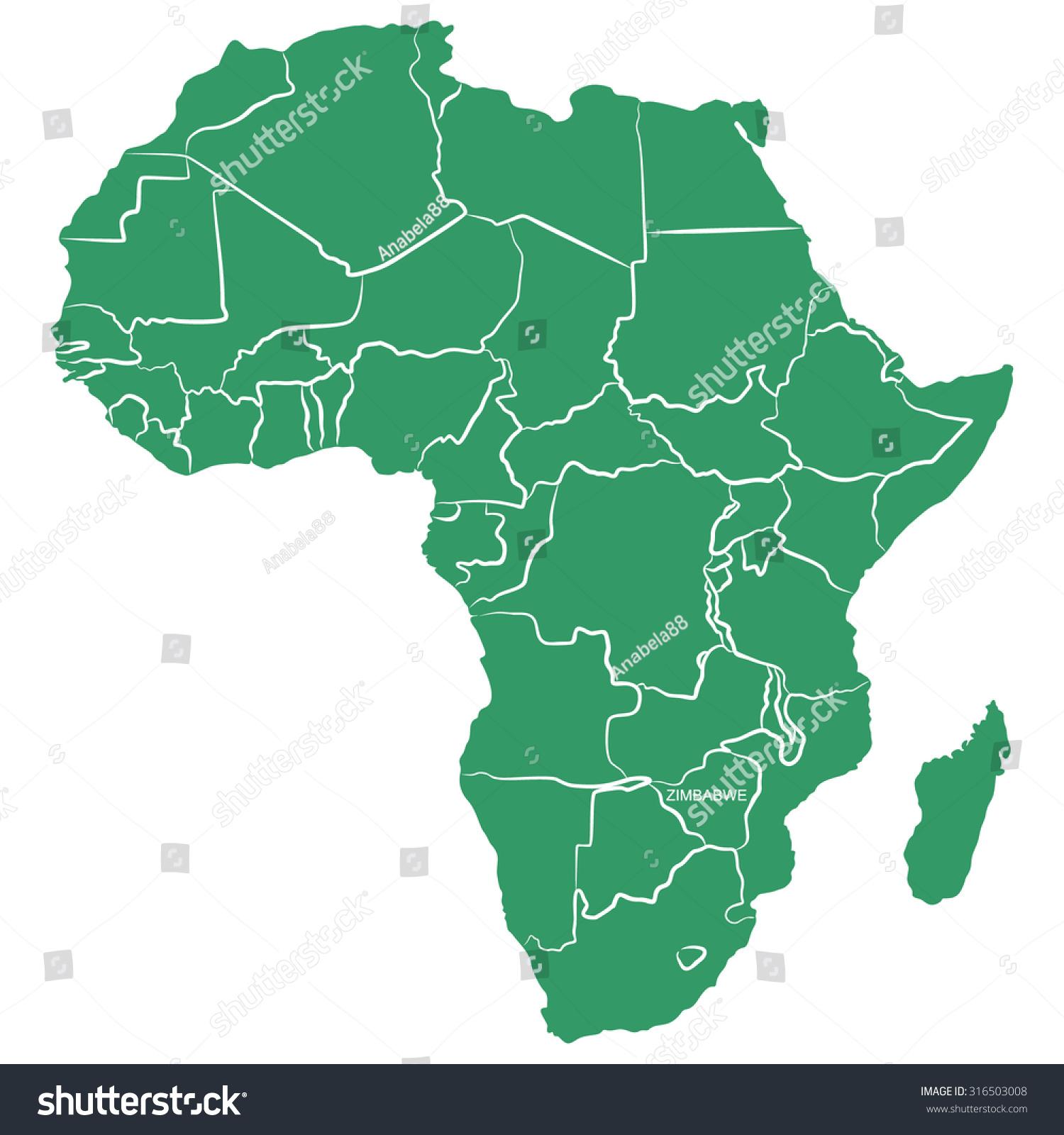 Map Of Africa Zimbabwe.Map Africa Zimbabwe Stock Vector Royalty Free 316503008 Shutterstock