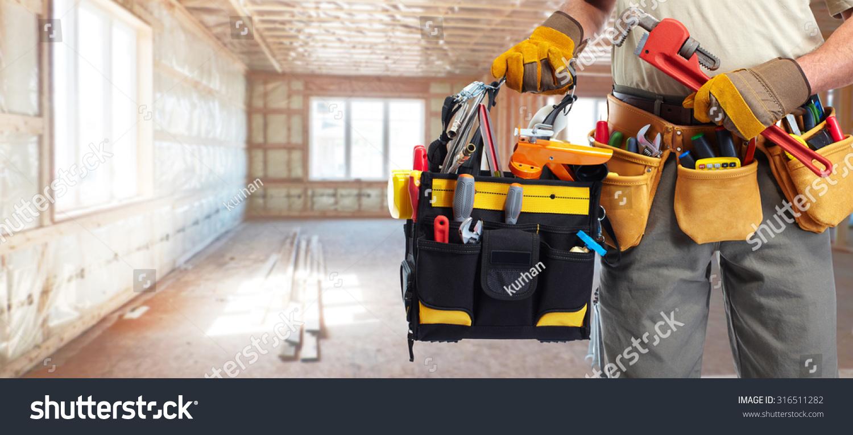 Builder Handyman Construction Tools House Renovation Stock Photo 316511282 Shutterstock