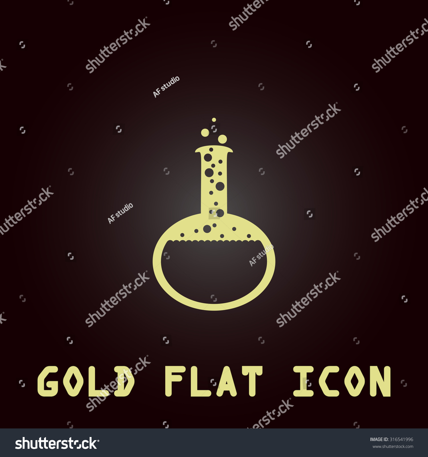 Chemistry test bulb symbol drops laboratory stock vector 316541996 chemistry test bulb symbol with drops laboratory glass gold flat vector icon biocorpaavc Gallery