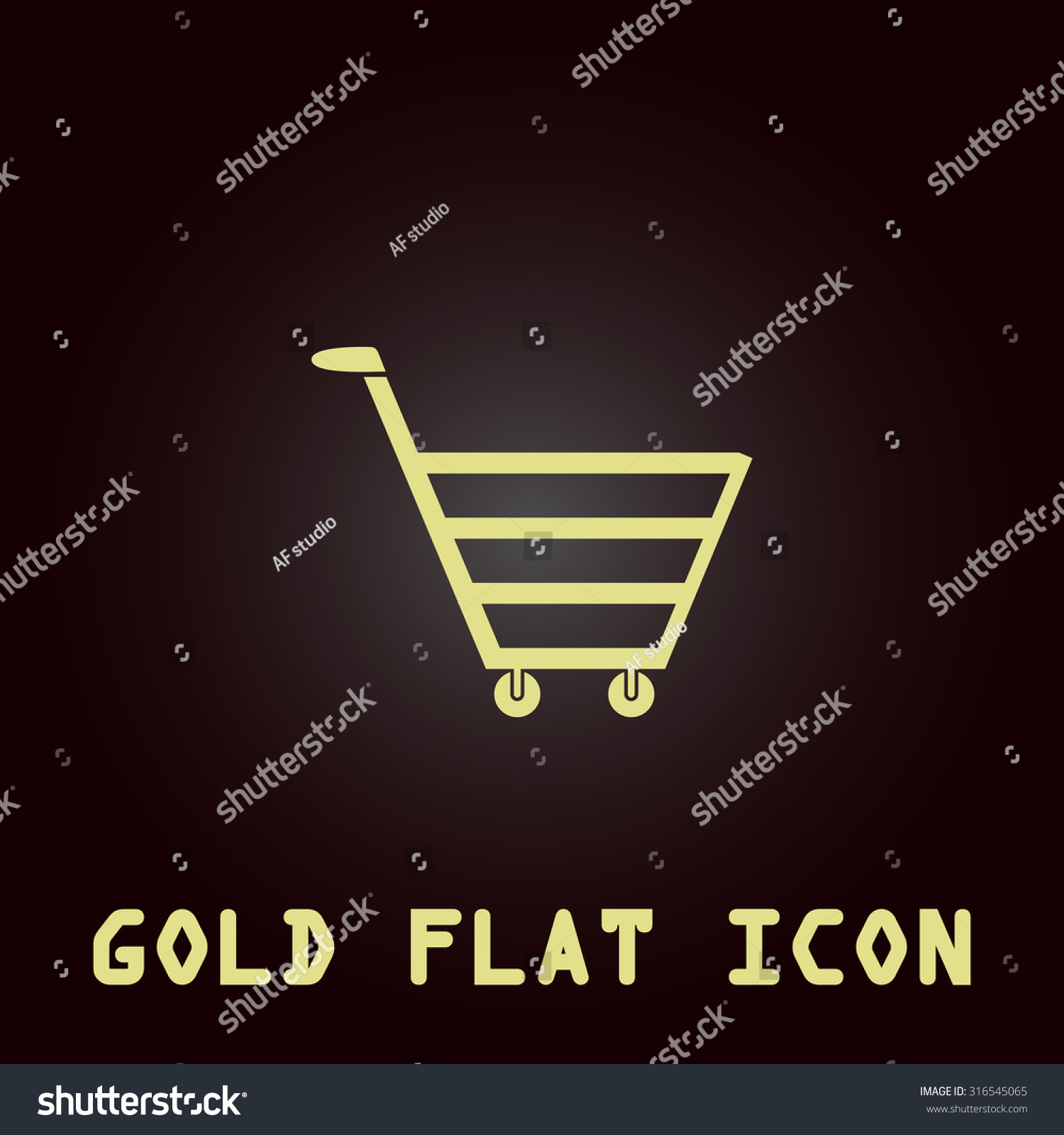 Trolley market gold flat vector icon stock vector 316545065 trolley market gold flat vector icon symbol for web and mobile applications for use biocorpaavc Images