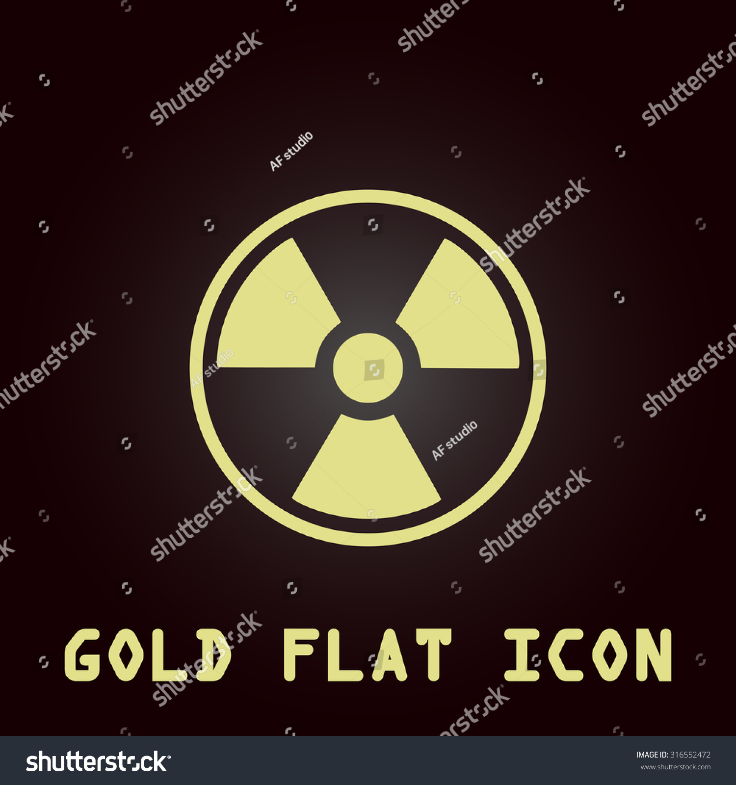 Universal symbol for radiation choice image symbol and sign ideas radiation gold flat vector icon symbol stock vector 316552472 radiation gold flat vector icon symbol for buycottarizona