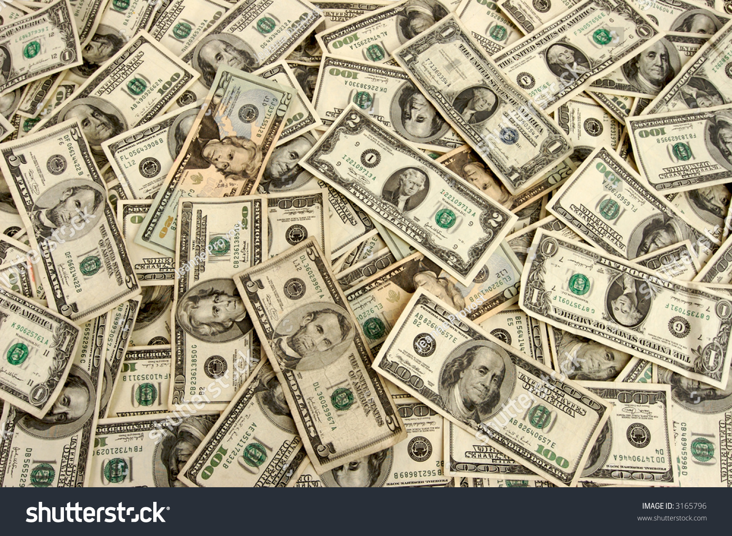 American Currency Cash Lots Real Money Stock Photo 3165796 ...