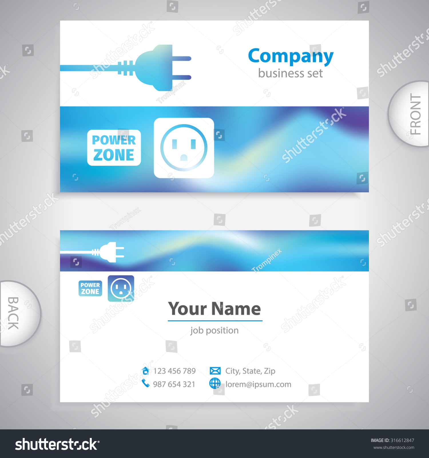 business card repairman electrical appliances consumer stock