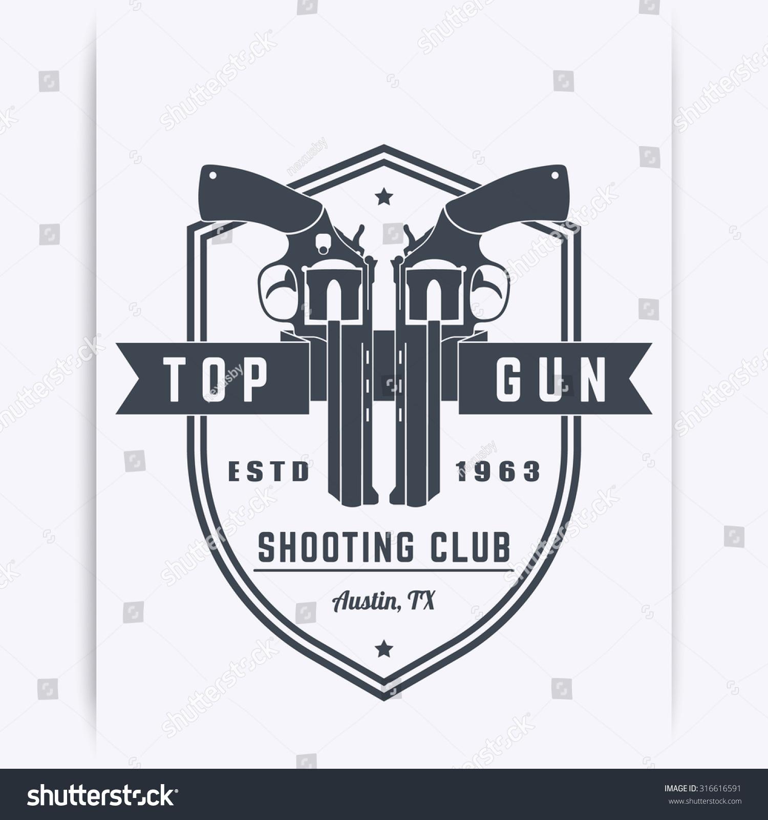 Gun Club Vintage Logo Emblem T Shirt Design With